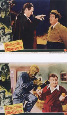 Abbott & Costello meet Frankenstein, Dracula & the Wolf Man. Abbott And Costello, Comedy Duos, Horror Monsters, Famous Monsters, Old Shows, Classic Monsters, Vintage Horror, Fantasy Movies, Horror Films