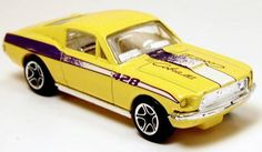 "Matchbox Ford Mustang 428 Yellow 1/64  "" Free Shipping!!!"""