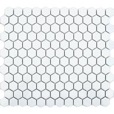 Image result for black white kitchen  hexagon wall tile