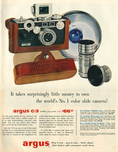Argus C-3. The first camera I started out with.  This was not a camera for lazy people.
