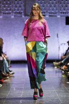 #Marimekko´s A/W 2014 fashion show at Helsinki Central Railway Station- housut kuin hame