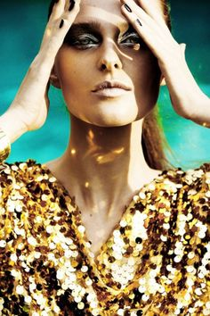 gold colored fashion shoot - Google Search