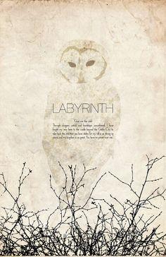 Labyrinth Vintage Alternative Movie Poster // Movie by TheGeekerie
