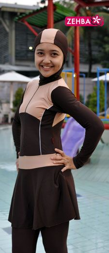 Great islamic swimwear I found for my daughter who wears Hijab (Islamic head scarf), and the price was INSANE! Islamic Swimwear, Hijab Niqab, You Go Girl, Modest Swimsuits, Muslim Women, Sport Wear, To My Daughter, Swimming, Athletic