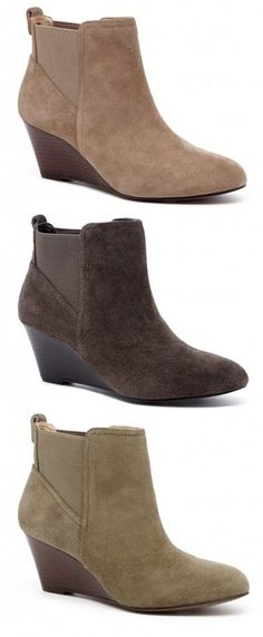 Wedge Ankle Booties for Fall