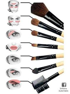 Maquillage /make up Paint brushes Wedding Flowers: Helpful Tips For Doing It Yourself Flowers play a Eyebrow Makeup Tips, Makeup 101, Makeup Guide, Contour Makeup, Skin Makeup, Makeup Brush Uses, Make Up Kits, Make Up Tutorial Contouring, Makeup Order