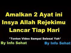 Baca Dua Ayat Ini Tiap Malam, Insya Allah Rezeki Lancar Seperti Air Mengalir - YouTube Muslim Quotes, Islamic Quotes, Allah, Doa, Videos, Youtube, God, Video Clip, Youtube Movies