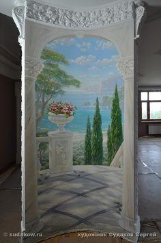 роспись стен в нише