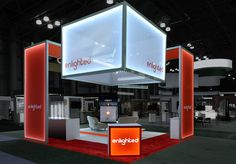 Enlighted, Inc. wanted an exhibit that would dominate the trade show floor, capture prospects' attention from afar, and have as much visual impact as possible. We custom designed this 20 x 20 exhibit to deliver on their strategy.