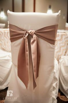 Chair Covers And More Houston Diy Cushions 23 Best Ceremony Treatments Images Garden Chairs Hilton Westchase Our Latte Sashes Tied In A Classic Knot Over The Ivory Square Back