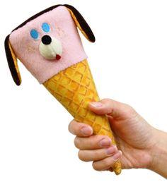 dog ice cream zip pouch