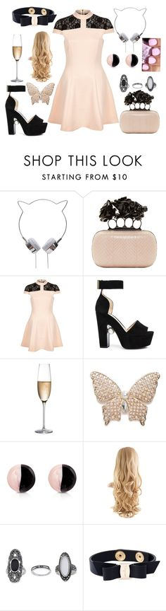 """Im loving Pastel goth this season."" by hayliemcullough ❤ liked on Polyvore featuring Alexander McQueen, River Island, Nicholas Kirkwood, RogaÅ¡ka, Napier, Antica Murrina, OPI, Topshop and Salvatore Ferragamo"