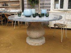 Deballage Designs - zinc top pedestal table