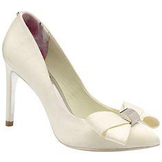 Ted Baker Ichlibi Pointed Toe Stiletto Court Shoes, Cream