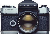 Flex R2000 - Sept 1960 (Deluxe version of the Canonflex. With a top shutter speed of 1/2000 sec., the fastest ever for any camera, the R2000 was a high-performance 35mm SLR)