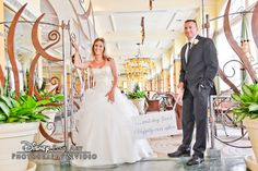 Couple in the entrance of Citricos at Disney's Grand Floridian, a restaurant and reception venue