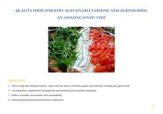 Sustainable Farming, Food Industry, Training Courses, Health, Health Care, Salud