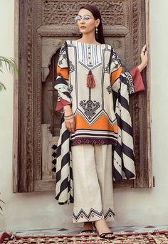 New Image : Pakistani fashion casual Pakistani Fashion Party Wear, Pakistani Fashion Casual, Pakistani Dresses Casual, Indian Fashion Dresses, Pakistani Dress Design, Indian Designer Outfits, Pakistani Lawn Suits, Fancy Dress Design, Stylish Dress Designs
