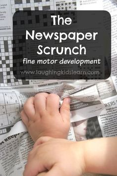 Simple fine motor exercise that you only need a piece of newspaper to do it. Suitable for all children. Easy set up. Fine motor development activity.