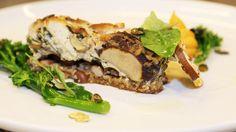 Vegansk quiche – pai med sopp og spinat