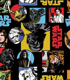 Star Wars Cartoon Characters Fleece Fabric at Joann.com