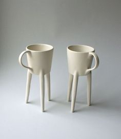 The Giraffe is a functional coffee cup that's also an art piece. Each cup stands on three long legs, which is not only a conversation-starter, ...