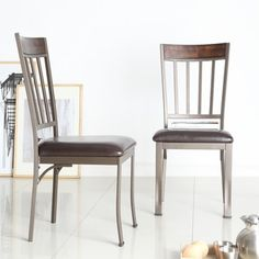 Keyaki Antique Bronze Finish Birch Accent Side Chairs by TRIBECCA HOME (Set of 2) - Free Shipping Today - Overstock.com - 15438525 - Mobile