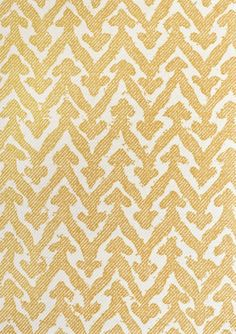 Rabanna Upholstery Fabric 100% Cotton upholstery fabric with large mute gold chevron on cream cotton.