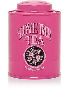 Love Me Love Tea container Tea Tins, Tea Canisters, Dream Tea, Tea Caddy, Everything Pink, My Tea, Home Recipes, Patch, Bubble Gum
