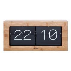 Karlsson Boxed Flip Tischuhr 37 x cm Wall Desk, Desk Clock, Flip Clock, Thomas Kent Clocks, Unusual Clocks, Gadgets, Wall Clock Design, Clock Decor, Red Candy