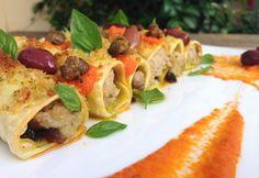 Cannelloni di sarago con salsa di pomodoro, capperi e olive | Food Loft - Il sito web ufficiale di Simone Rugiati