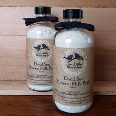 Mineral Milk bath labels by Two Little Blackbirds