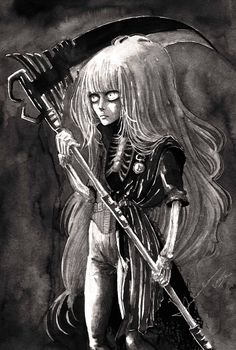 """Lady Death"" by Kashoka --- Ink paiting"