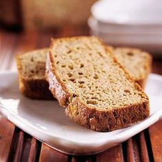 Instead of serving apple butter on the bread, we put it inside to make this moist delicious quick bread.