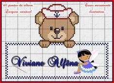 Viviane Alfêna - Gráficos e Bordados: gráfico de ponto cruz ursinho marinheiro
