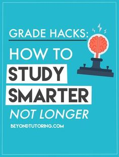 Learn how to study smarter, NOT longer: http://beyondtutoring.com/study_habits_study_smarter/ #studyingstrategies #gradehacks #specialeducation