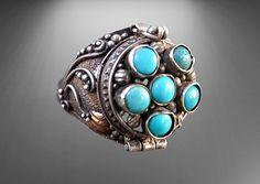 Poison Ring, Turquoise Bracelet, Bracelets, Rings, Jewelry, Fashion, Moda, Jewlery, Jewerly