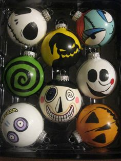 Hand made Nightmare before christmas ornaments
