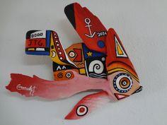 J.T.G Fish by CharruArt Aruba Driftwood Assemblage by CharruArt, $195.00