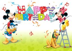 Mickey & Friends Group Green - Happy Birthday Funny - Funny Birthday meme - - Happy Birthday Más The post Mickey & Friends Group Green appeared first on Gag Dad. Disney Happy Birthday Images, Birthday Wishes For Kids, Birthday Cheers, Happy Belated Birthday, Disney Birthday, Happy Birthday Greetings, 21 Birthday, Birthday Quotes, Funny Birthday