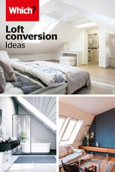 Make the most of your loft space with our loft conversion ideas – Learn clever design tips and tricks from experts with our handy guide, as well as, help on costs to get the most from your new space. Loft Conversion Cost, Bungalow Loft Conversion, Loft Conversion Bedroom, Loft Conversions, Loft Room, Bedroom Loft, Bedroom Decor, Stair Decor, Loft Interiors