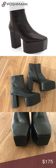 Jeffrey Campbell Marcade Platform Boots Brand new Black platform boots. Worn once around the house! Very comfortable and kind of high but lovely nonetheless. Zips on the side and fits true to size. Wide toe box as well. Jeffrey Campbell Shoes