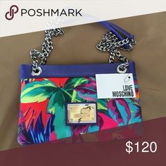 Love Moschino Multicolor Jungle-Print shoulder bag A summer must have! All the bright colors to combine with anything in your closet! Never worn, tags still attached, but no dust bag! Love Moschino Bags Shoulder Bags