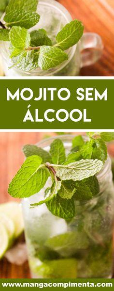 Receita de Mojito Sem Álcool - uma bebida deliciosa para fazer em casa e em qualquer hora do dia! #receitas #bebidas