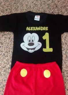Conjunto Mickey Personalizado - R$ 50,00