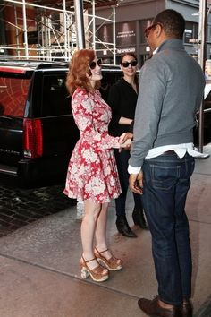 Jessica Chastain is spotted out and about in New York City, New York with friends on May 5, 2015.