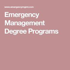 emergency management degree programs