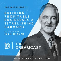 I've been waiting for this moment for months! The Dreamcast Podcast is officially launched! Show some love & share & pin.  The 1st episode is with Dr @ivanmisner , Founder of BNI with 194,000 members worldwide & $9.3 billion in referral business. Ivan is a NY Times bestselling author & author of 20+ books.  Listen in to Ivan's secrets on building your dream while cultivating life long relationships.  Leave a review here - https://itunes.apple.com/us/podcast/the-dreamcast/id1097581316?mt=2