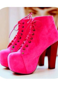 Pink Litas cute shoes Jeffery campbell