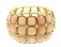 light pink stone bracelet $16  http://www.shop.luckieyouboutique.com/light-pink-bracelet-11158.htm